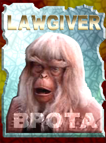 The Lawgiver Trading Card